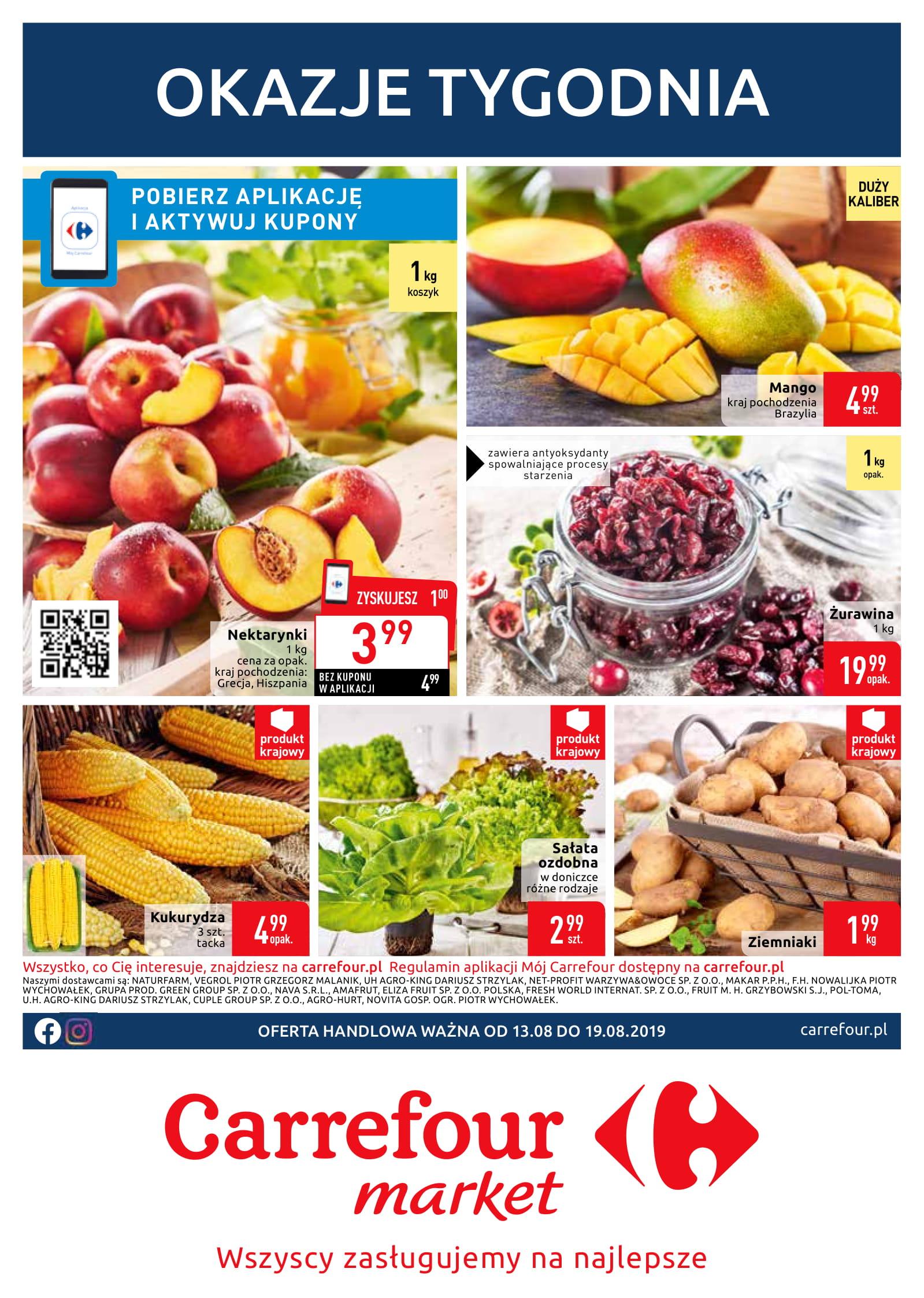 Carrefour okazje tygodnia od 13.08 do 19.08