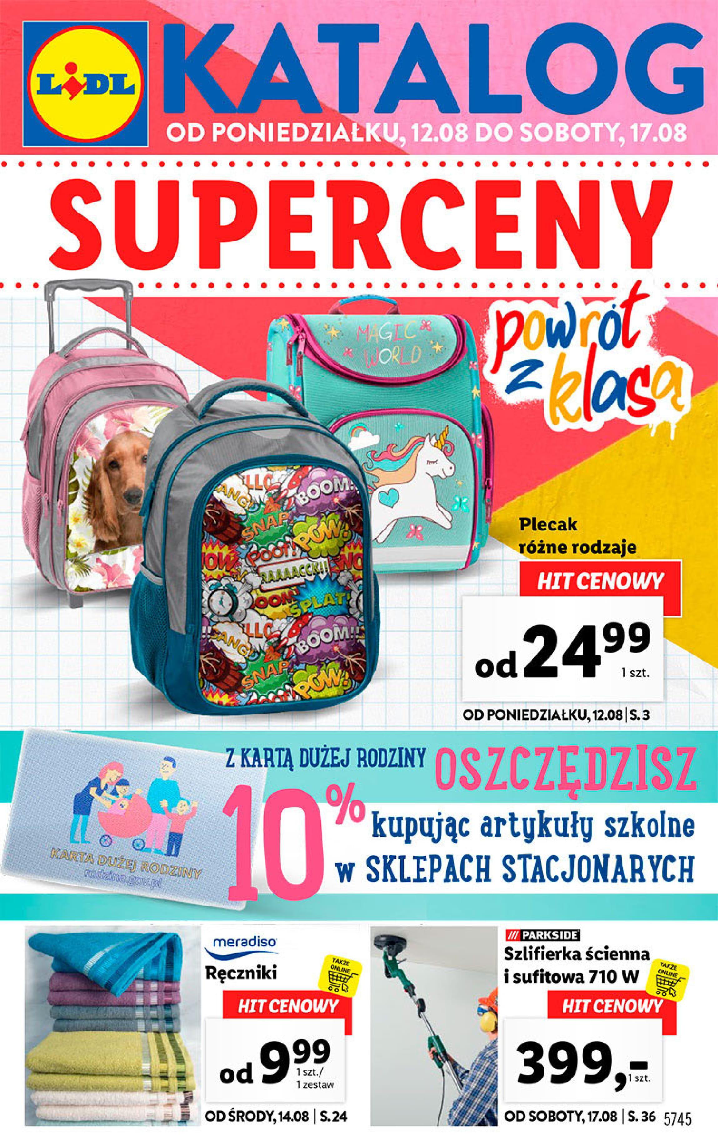 Lidl: Katalog Super Ceny – ważny od 12.08 do 17.08