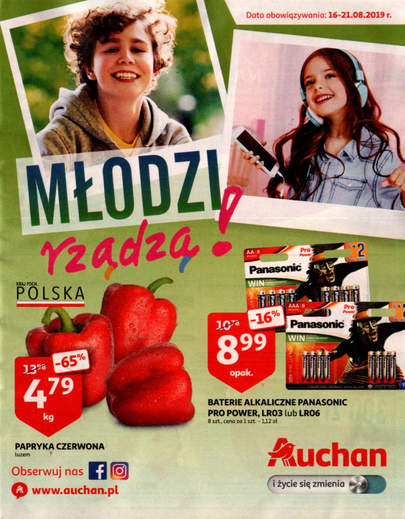 Auchan gazetka od 16.08 do 21.08.2019